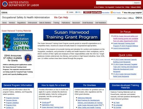 Susan Harwood Training Grant Program 2014-05-16 16-30-27