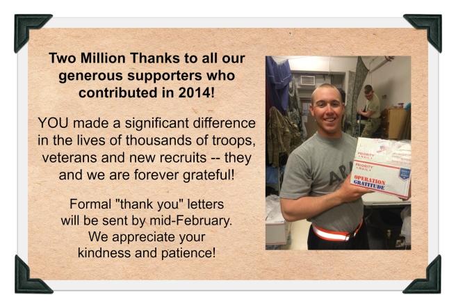 2014 donations