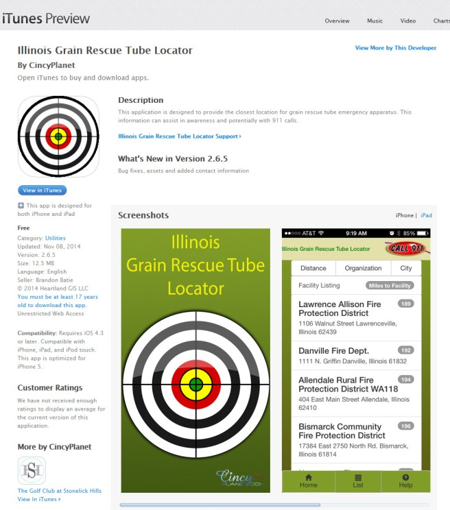 Illinois Grain Rescue Tube Locator on the App Store on iTunes 2015-01-24 14-35-58