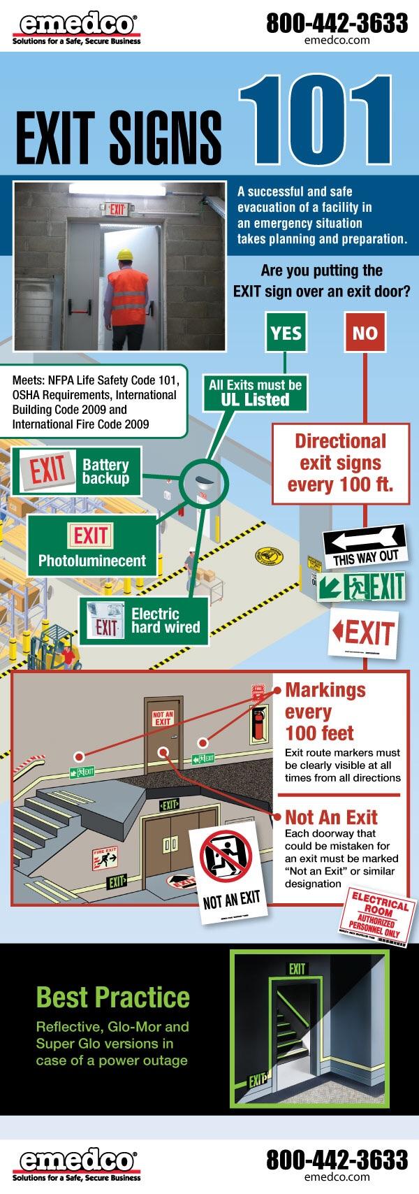 image & OSHA Emergency Lighting u0026 Exit Sign Infographicu201d u2013 EHS Safety News ...