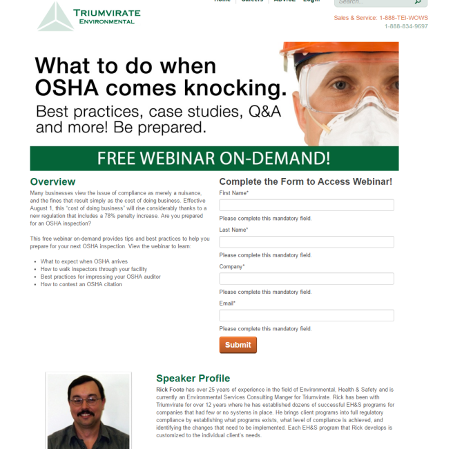Free Webinar On Demand What to Do When OSHA Comes Knocking
