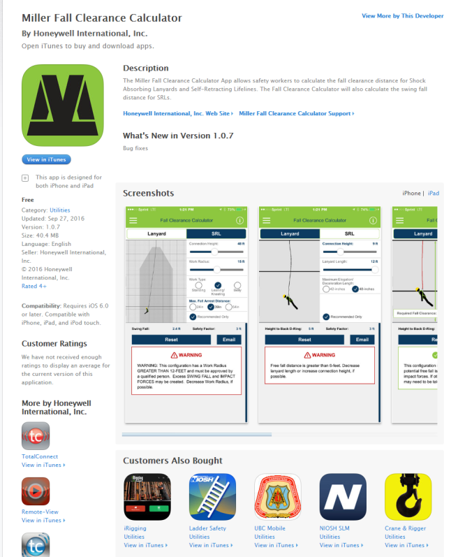 Miller Fall Protection App